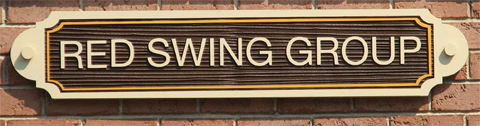 Red Swing Group Building Sign